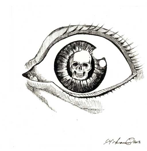 Eye - pen and ink